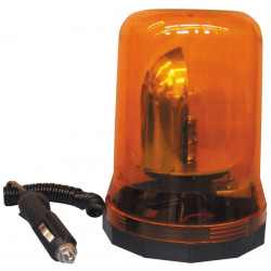 Beacon electric 12v 25w magnetic rotating beacon light amber orange 12vdc large model