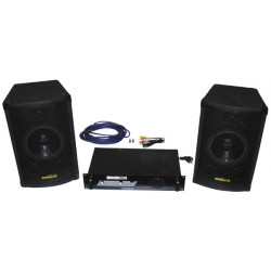 Pack complete sound basic 2x100w loudspeakers sound