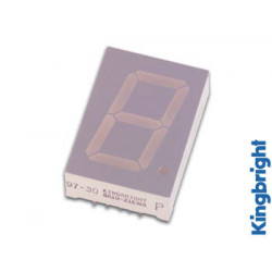 25mm single digit display common cathode hyper red