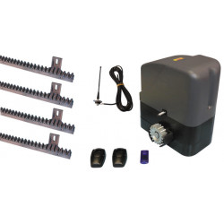 Complete automatism kit for sliding gate 400kg 12v speed remote control 433mhz slidekit02