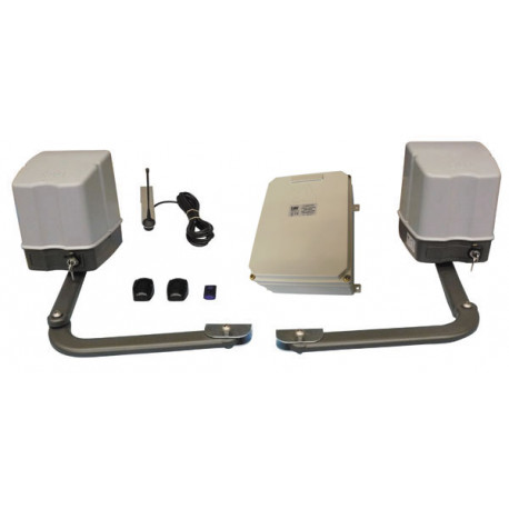 Kit 12v automatic gate has two leaves articulated arm motors electromechanical operator