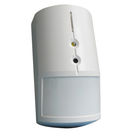 Wireless motion detector with built-in camera