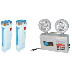 3 light rechargeable emergency light, 220vac 2x4.5w dx 933 incorporated refillable battery emergency light systems emergency lig