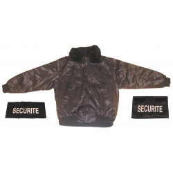 Pack 1 security guard jacket size l + 1 security band chest + 1 number security