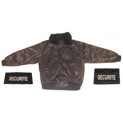 Pack 1 security guard jacket size xl + 1 security band chest + 1 number security
