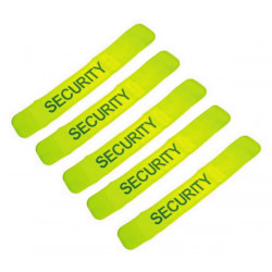 Pack 5 safety armband yellow 'security'