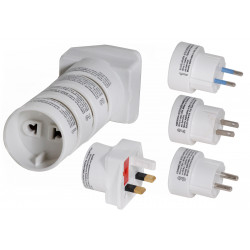 Travel adapter electric adapter multiplug europe u.k. ireland america canada middle east asian countries electric adapters multi