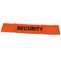 Fluorescent velcro cuff security road safety high visibility orange arm protection