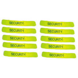 Pack 10 safety armband yellow 'security'