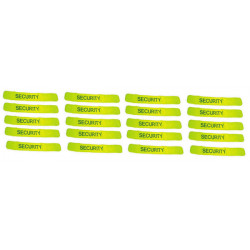 Pack 20 safety armband yellow 'security'