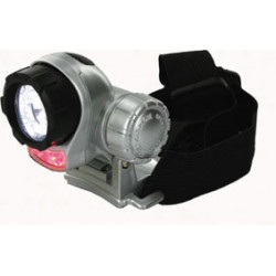 Lampe torche frontale 7 led eclairage antichoc tete lumiere oulam15 2 rouge 5 blanche basse conso