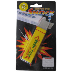 Electrifying pack of gum yellow electric tripping farce and jokes 8570