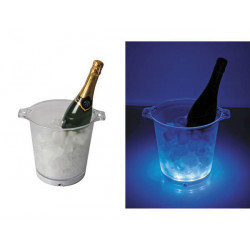 Blue led light ice bucket