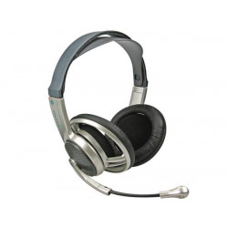 Multimedia stereo headphones with microphone