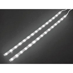 Double self adhesive led strip 12vdc white with on off button