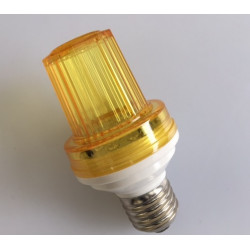 Mini strobe lamp yellow, 1w 10 led, e27 socket