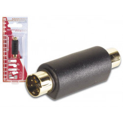 S vhs adapter 4p mini din male to female rca gold