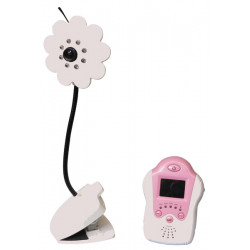 Wireless baby monitor,2.4ghz digital video baby monitor, 1.5inch baby monitor with flower camera