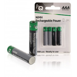 4 Rechargeable Battery NiMH AAA 1.2 V 950mAh Blister of 4 batteries HQHR03-950 / 4B