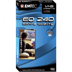 1 Emtec E240EQ Cassette video VHS 240 min 4 heures High Quality