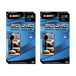 2 Emtec E240EQ Cassette video VHS 240 min 4 heures High Quality
