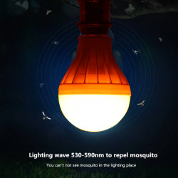 9W Mosquito Killing LED Bulb Light Croci 530-590nm Pest Control Trap Bug Repelling Lamp Bulb Home Lighting AC220V