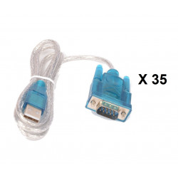 35 X Cable usb serial conversion lengh 1.80 m