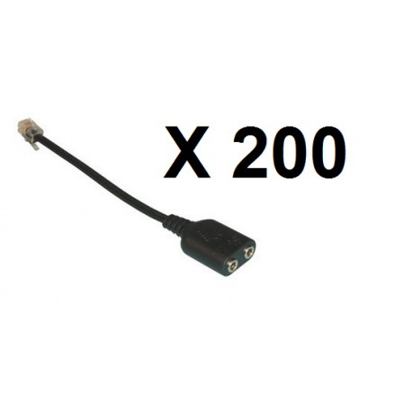 200 X phone adaptor 3.5mm to RJ9 Audio Adapter Cable - 3.5mm audio female socket to RJ9 Modular Plug Adapter Cable for connectin