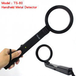 Detecteur metaux portable pliant securite portatif fouille detection metal ts-80