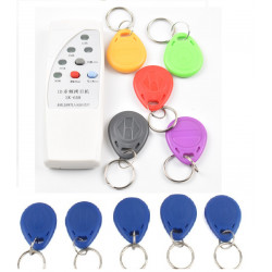 4 frequency RFID Copier/ Duplicator/ Cloner ID EM reader & writer+ 10 pcs EM4305 T5577 writable keyfob