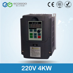220V 4KW Single Phase input and 220V 3 Phase Output Frequency Converter / Adjustable Speed Drive / Frequency Inverter / VFD