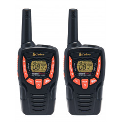 Walkie talkie cobra pmr 8 km range 8 channel black orange AM645