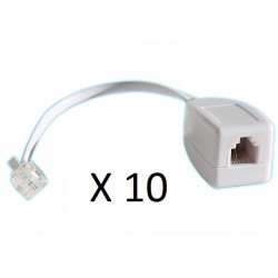 10 X Rj11 telephone line surge as one fax / modem / adsl surge arrester 3ka phone
