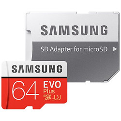 Carte MicroSD 64gb avec Adaptateur SD Canvas Go Kingston SDCG2/64GBSP