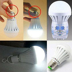 15W E27 LED Intelligent Emergency Bulbs Human Body Induction Rechargeable Lamps with Hook