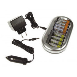 Chargeur nimh nicd batterie accumulateur accu pile ni mh hr6 hr03 aa aaa vl9878 prise allume cigare