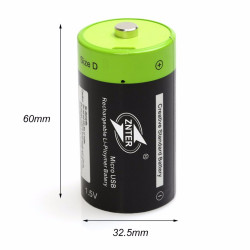 ZNTER 1.5V 4000mAh Battery Micro USB Rechargeable Batteries D Lipo LR20 Battery For RC