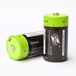 ZNTER ZNT1-1-R 1pce 1.5V 6000mAh USB Rechargeable D Battery Recycle Multifunctional Charged Lithium Polymer Play And Plug