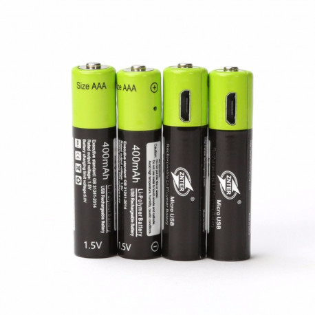 4 rechargeable lithium polymer battery 400mAh battery 1.5v aaa lr03 Znter micro usb li-polymer