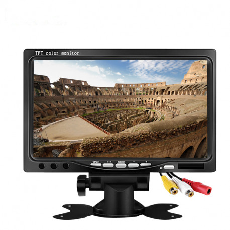 7 inch 800x480 TFT LCD audio monitor for Car Rearview Cameras, Car DVD, Serveillance Camera with 2 ways AV
