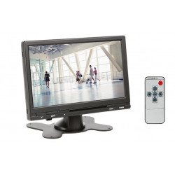 Monitor de video digital 18cm color 7 pulgadas 12v tft control remoto lcd vigilancia 16: 9 4: 3 mon7t1