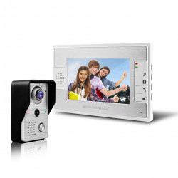 Kit visual visual intercom 7 inch door phone doorbell with 1-monitor 1-camera system, LCD display screen TFT display