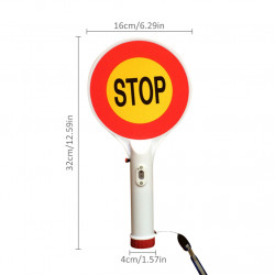 Two-Way Handheld Rechargeable LED Traffic Sign Stop Light Lamp Car Indicator