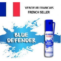 Spray de defensa gas cs blue defender azul 2% 25ml spray de bomba de aturdimiento lagrymogene