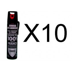 10 Spray gas paralizzante cs 2% 75ml gas lacrimogeno cs spray legittima difesa cs spray