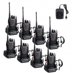 8 Talkie walkie 446mhz batterie rechargeable chargeur 16 Canaux UHF 400-470 MHz Baofeng BF-888S