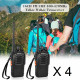 8 x Baofeng BF-888S 16-Channel UHF 400-470MHz Walkie Talkie Pair 2-Way FM Radio Rechargeable Transceiver 3 Kilometer Range