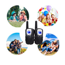 Walkie-Talkie 2 PCS Long Range VOX 8 Channels Duplex Radio UHF 446MHz Perfect for Supermarket Central Purchasing