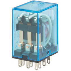 Relay electric relay 12vac omron my3n-j my3nj hh53p pyf11a power relay, 2 no nc 10a contacts 220vac