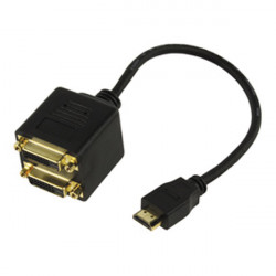 Cable splitter hdmi 2x dvi d gold plated